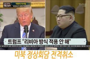 [북핵 관련 '놀라운 사태' 발생] 미북 정상회담 전격취소
